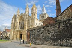 The Cathedral in Rochester. UK Stock Photo