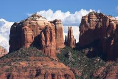 Cathedral Rock. Closeup in Sedona Arizona Stock Photo