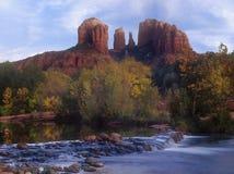 Cathedral Rock. In Sedona Arizona in autumn stock image