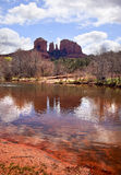 Cathedral Rock Canyon Oak Creek Sedona Arizona Royalty Free Stock Images