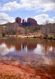 Cathedral Rock Canyon Oak Creek Sedona Arizona Royalty Free Stock Images