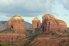 Cathedral Rock Close Up Landscape Royalty Free Stock Photo