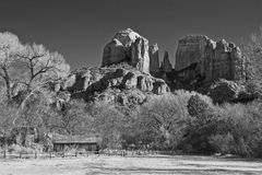 Cathedral Rock from Crescent Moon Ranch Stock Images
