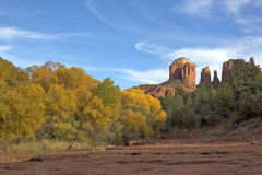 Cathedral Rock Fall Landscape Royalty Free Stock Photos