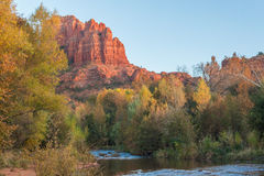 Cathedral Rock Fall Reflection Royalty Free Stock Photo