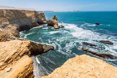Cathedral Rock Formation, Paracas National Reserve Royalty Free Stock Image