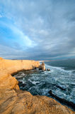 Cathedral Rock Formation, Peruvian Coastline Royalty Free Stock Images