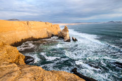 Cathedral Rock Formation, Peruvian Coastline Stock Photos