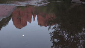 Cathedral Rock Full Moon Reflection stock video footage
