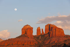 Cathedral Rock Full Moon Royalty Free Stock Photos