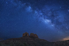 Cathedral Rock Milky Way Royalty Free Stock Images