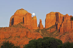 Cathedral Rock Moonrise Stock Photography