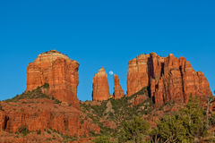 Cathedral Rock and Moonrise Royalty Free Stock Photography