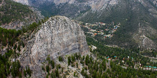 Cathedral Rock Nevada. Cathedral Rock seen from elevation in the mountains of Nevada Stock Photography