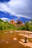 Cathedral Rock and Oak Creek Stock Images
