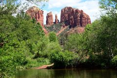 Cathedral Rock royalty free stock images