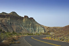 Cathedral Rock Oregon And Highway Stock Photo