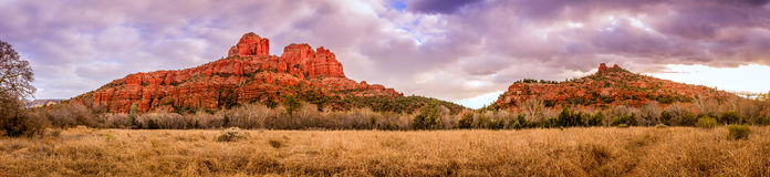 Cathedral Rock panorama Royalty Free Stock Photos