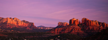 Cathedral Rock panoramic in Sedona, Arizona Royalty Free Stock Images