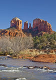 Cathedral Rock from Red Rock Crossing stock images