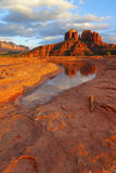 Cathedral Rock Reflection Royalty Free Stock Photo