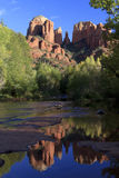 Cathedral Rock Reflection Stock Photos