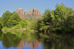 Cathedral Rock Reflection Royalty Free Stock Photos