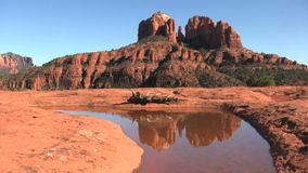 Cathedral Rock Reflection Royalty Free Stock Photography