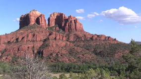 Cathedral Rock Scenic Zoom In stock video footage