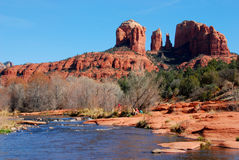 Cathedral Rock Sedona. Red rock formation in Sedona Arizona Royalty Free Stock Photography