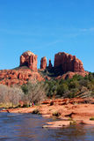 Cathedral Rock Sedona. Red rock formation in Sedona Arizona Royalty Free Stock Photos