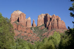 Cathedral Rock, Sedona Arizona. A scenic view of cathedral rock near sedona arizona Royalty Free Stock Images