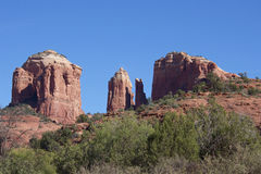 Cathedral Rock, Sedona Arizona. A dramatic scenic view of cathedral rock near sedona arizona Stock Photos