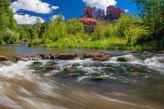 Cathedral Rock in Sedona, Arizona. Nice Sunny Image of Cathedral Rock in Sedona, Arizona royalty free stock photography
