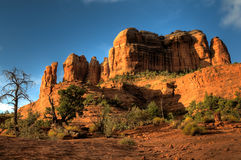 Cathedral Rock in Sedona, AZ. The backside of cathedral rock in Sedona, Arizona Royalty Free Stock Image
