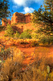 Cathedral Rock in Sedona, AZ. The backside of cathedral rock in Sedona, Arizona Stock Photography