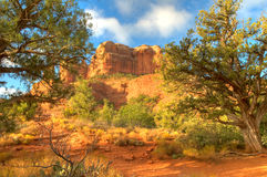 Cathedral Rock in Sedona, AZ. The backside of cathedral rock in Sedona, Arizona Stock Photo