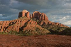 Cathedral Rock Sedona AZ. Cathedral Rock located in Coconino National Forest near Sedona AZ Stock Photography
