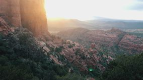 Cathedral Rock, Sedona, tilt up b-roll footage stock video