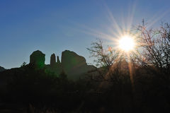 Cathedral rock sunrise Royalty Free Stock Image
