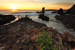 Cathedral Rock at Sunrise NSW Australia Royalty Free Stock Photography