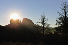 Cathedral rock sunset Stock Photos