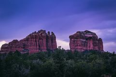 Cathedral Rock Sunset royalty free stock photos