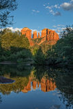 Cathedral Rock Sunset Reflection Stock Image