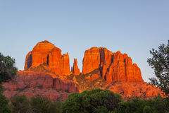 Cathedral Rock at Sunset Stock Images