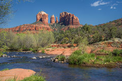 Cathedral Rock Viewed From Red Rock Crossing stock photo