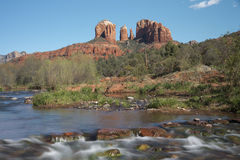 Cathedral Rock Viewed From Red Rock Crossing Stock Images