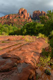 Cathedral rock vortex in sedona Royalty Free Stock Images