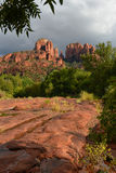 Cathedral rock vortex in sedona, arizona Royalty Free Stock Image