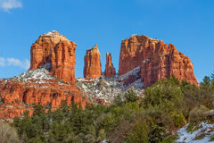 Cathedral Rock Winter Scenic Royalty Free Stock Photo